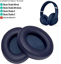 Oriolus Replacement Ear Pads Cushions for Beats Studio 3 Studio 2 Wireless B0500 B0501 Headphones (Dark Blue)