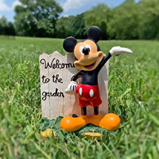 The Galway Company Mickey Mouse Outdoor Garden Statue, 7 Inches Tall, Hand-Painted, Official Disney Licensed Product