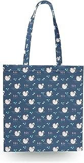 Swan Lake Princess Canvas Tote Bag - Zipper Canvas Tote Bag