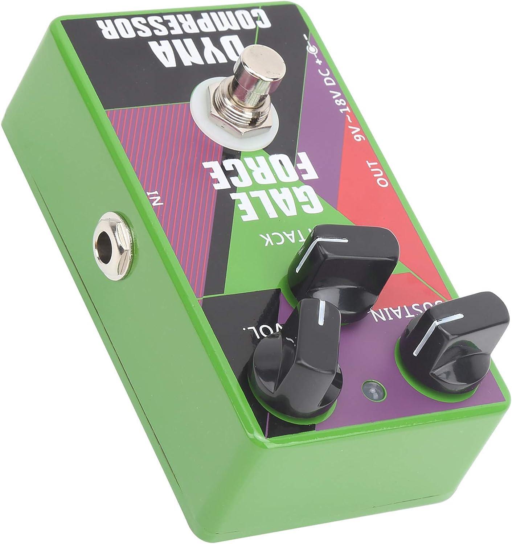 Pedal de compresor, pedal de efecto de guitarra verde Carcasa de aleación de aluminio para guitarrista para club de música para amantes de la música para actuaciones al aire libre