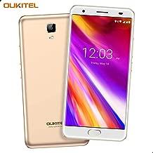 Điện thoại di động Android – OUKITEL OK6000 Plus Unlocked Cell Phones, 5.5″ FHD 6080mAh Big Battery Unlocked Smartphones, 4GB RAM+64GB ROM Dual SIM Android 7.0 Octa Core Unlocked Phones Fingerprint – Black (Gold2)