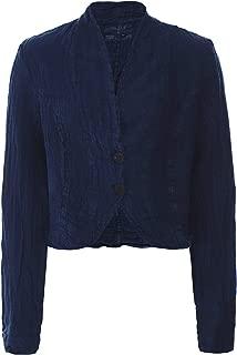Grizas Women's Cropped Linen Jacket Navy