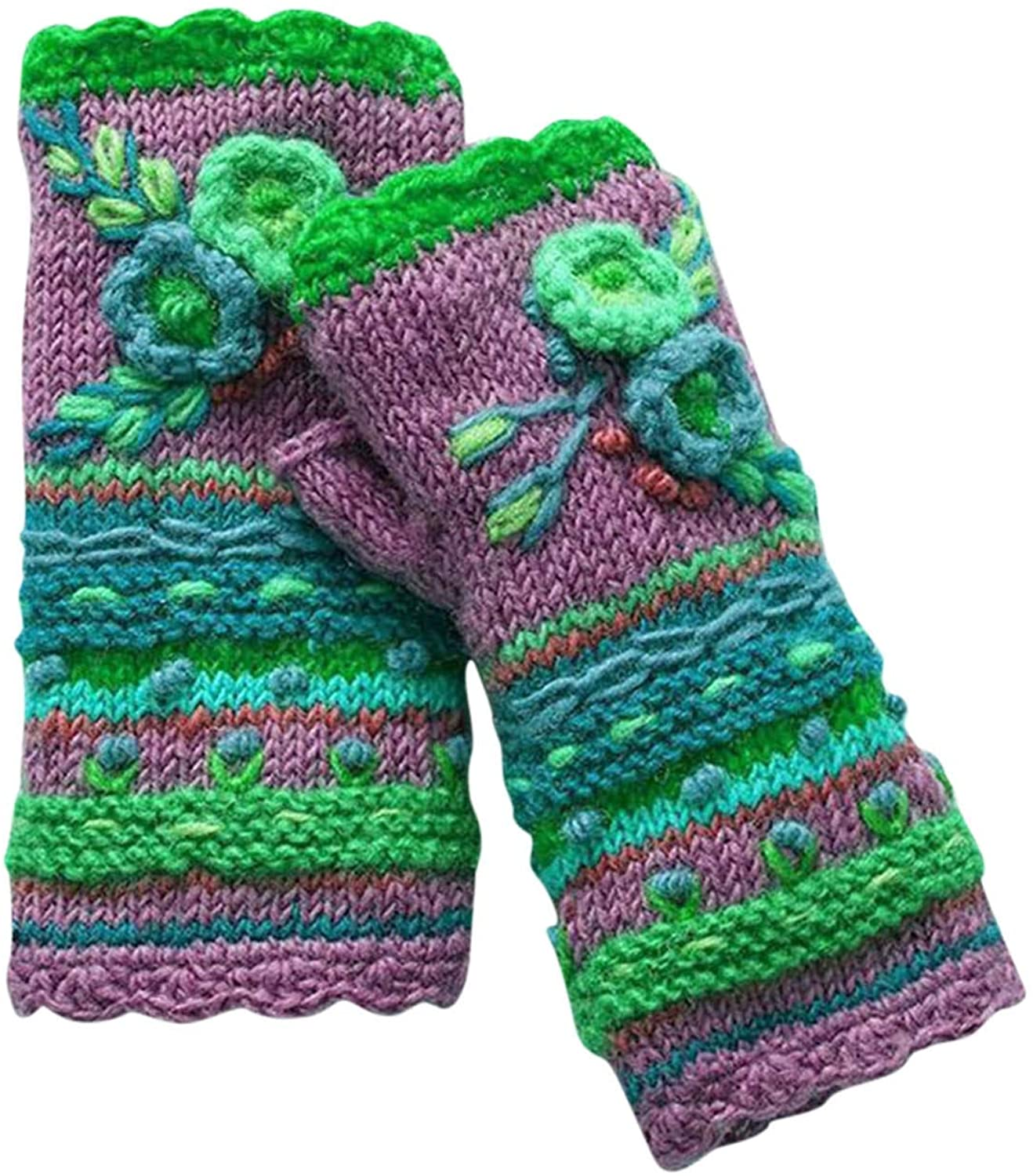 WYTong Womens Winter Warm Gloves Casual Flower Knit Gloves Handwarmers Gloves Mittens
