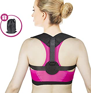 MIKOSI Figure 8 Posture Corrector for Men & Women Invisible Shoulder Posture Strap Effective Shoulder Corrector for Posture Brace Discreet Clavicle Posture Support Rehab & Alignment Shoulders