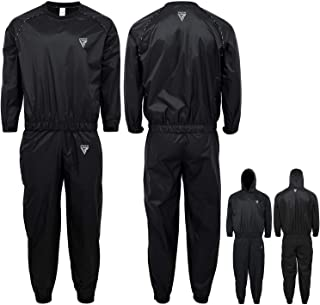RDX Sauna Suit for Gym Workout & Fitness Training - Sweat Suits for Men & Women Weight Loss and Slimming Exercises – Black...