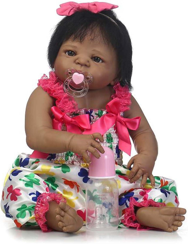 Terabithia 22 Zoll selten Afroamerikaner Wiedergeboren Baby Puppe, Baby Shiny, Schwarze Mädchen Puppe handgefertigt in Silikon Vinyl Ganzkörper B07BLSSFM8 Starke Hitze- und AbnutzungsBesteändigkeit  | Qualität zuerst