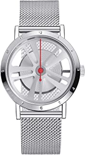IBSO Men Creative Rotation Watch Boy Sports Car Wheel Design Watches Automobile Tire Wrist Watch