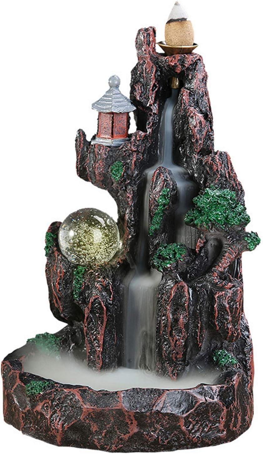 お買得 M5RU Incense Waterfall Burner Craf Backflow Resin 直送商品