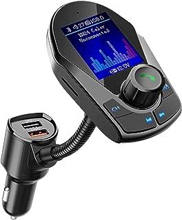 Nulaxy Bluetooth FM Transmitter for Car, Upgraded 1.8