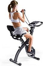 MaxKare Folding Magnetic Upright Exercise Bike w/Pulse Sensor/LCD Monitor Indoor Cycling Bike Stationary Bike Recumbent Ex...