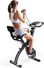 MaxKare Folding Magnetic Upright Exercise Bike w/Pulse Sensor/LCD Monitor Indoor Cycling..