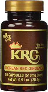 Prince of Peace Korean Red Ginseng Capsules, 50 Count