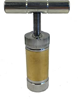 T Handle Pollen Press Tool 3.5 Inch Heavy Duty Metal Alloy 2 Tone by Herb Master