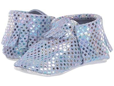 Freshly Picked Soft Sole Moccasins Out of This World (Infant/Toddler) (Iridescent Stars) Girl