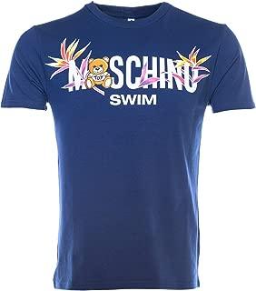 Moschino Swim Palm Teddy T Shirt in Navy