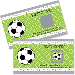 Big Dot of Happiness Goaaal - Soccer - Baby Shower or Birthday Party Game Scratch Off Cards - 22 Count
