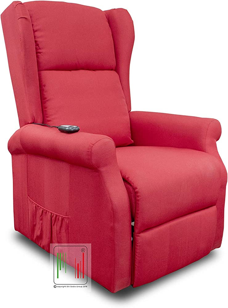 Stil sedie, poltrona relax reclinabile elettrica alzapersona DIANA_BORDEAUX