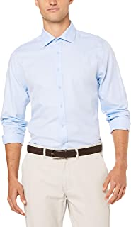 Ben Sherman Men's Long Sleeve Herringbone Kings Fit Formal Shirt