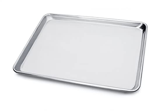 New Star Foodservice 36862 Commercial-Grade 18-Gauge Aluminum Sheet Pan/Bun Pan