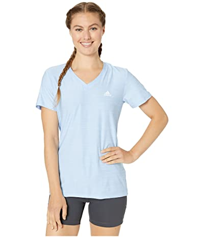 adidas Tech Tee (Glow Blue) Women