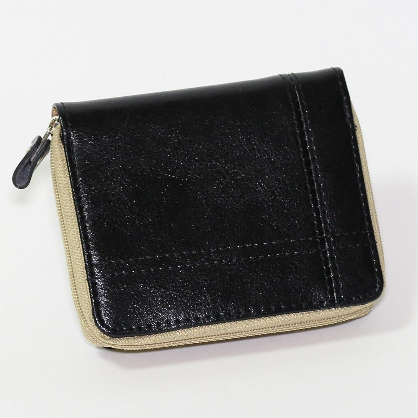 覚醒良さ読みやすいファスナータイプ折り財布 革 2つ折財布 折財布