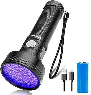 comprar comparacion morpilot Linterna UV Ultravioleta Recargable con 51 LED, 395 nm Flashlight Luz UV Portátil Detector Ultravioleta para Dete...