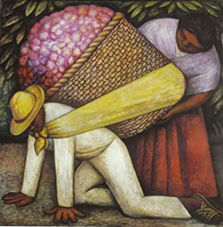 Diego Rivera - The Flower Carrier (Formerly The Flower Vendor), Size 12x14 inch, Canvas Art Print Wall décor