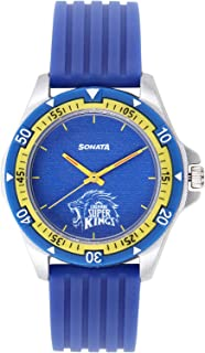 Sonata Chennai Super Kings Limited Edition Analog Blue Dial Men's Watch-7930PP12