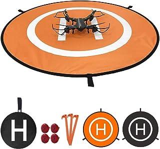 WinPower Drone Landing Pad with LED Night Lights, Waterproof Universal 75cm 30 inches Foldable Landing Pad for DJI Mavic P...