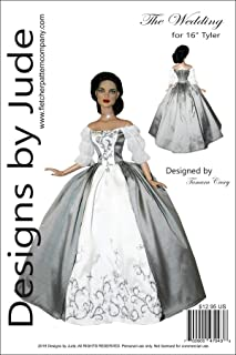 Outlander Wedding Dress Doll Clothes Pattern for 16