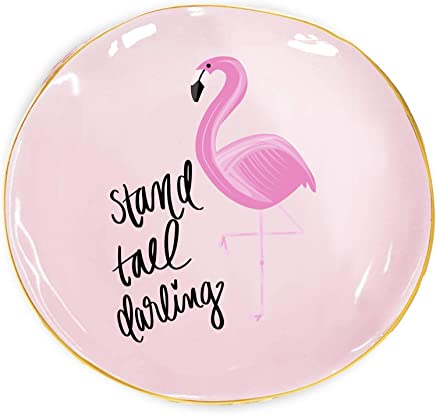 Amazon Com Stand Tall Darling Jewelry Dish Flamingo Trinket
