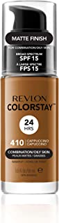 Revlon ColorStay Liquid Foundation For Combination/oily Skin, SPF 15 Cappuccino, 1 Fl Oz