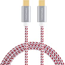 Type USB C-C Cable, CableCreation 10ft Braided USB 2.0 Type C (USB-C) to Type C Data Charging Cable(3A), Compatible MacBook(Pro), Galaxy S10/S9, Pixel 3XL/3, Nexus 5X/ 6P, etc (Red)
