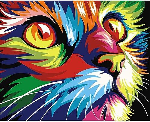 100% precio garantizado Cxmm Auto-Completo Auto-Completo Auto-Completo Pintura Digital Sin Marco Dibujo Abstracto Animal Gato 40  50Cm Pintura Materias Primas  mas barato