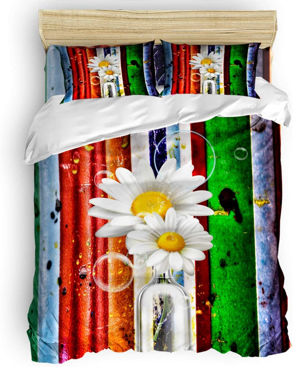 LEO BON Washed Microfiber Duvet Max 78% OFF Cover Overseas parallel import regular item Sunflowers Set Full Size i