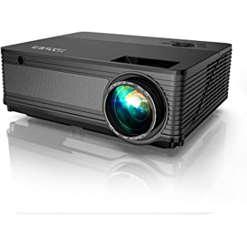YABER Y21 Native 1920 x 1080P Projector 7000 Lux Upgrad Full HD Video Projector, Support 4k & Zoom, Home & Outdoor Projector Compatible w/TV Stick,HDMI,VGA,USB, iPhone,Android,Laptop,PS4,Xbox