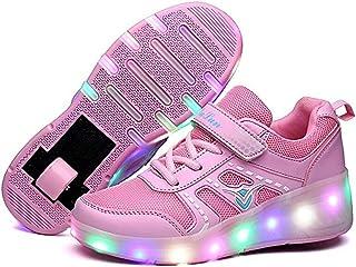 EVLYN Kids LED Light Up Roller Shoes Wheels Skate Flashing Sneakers