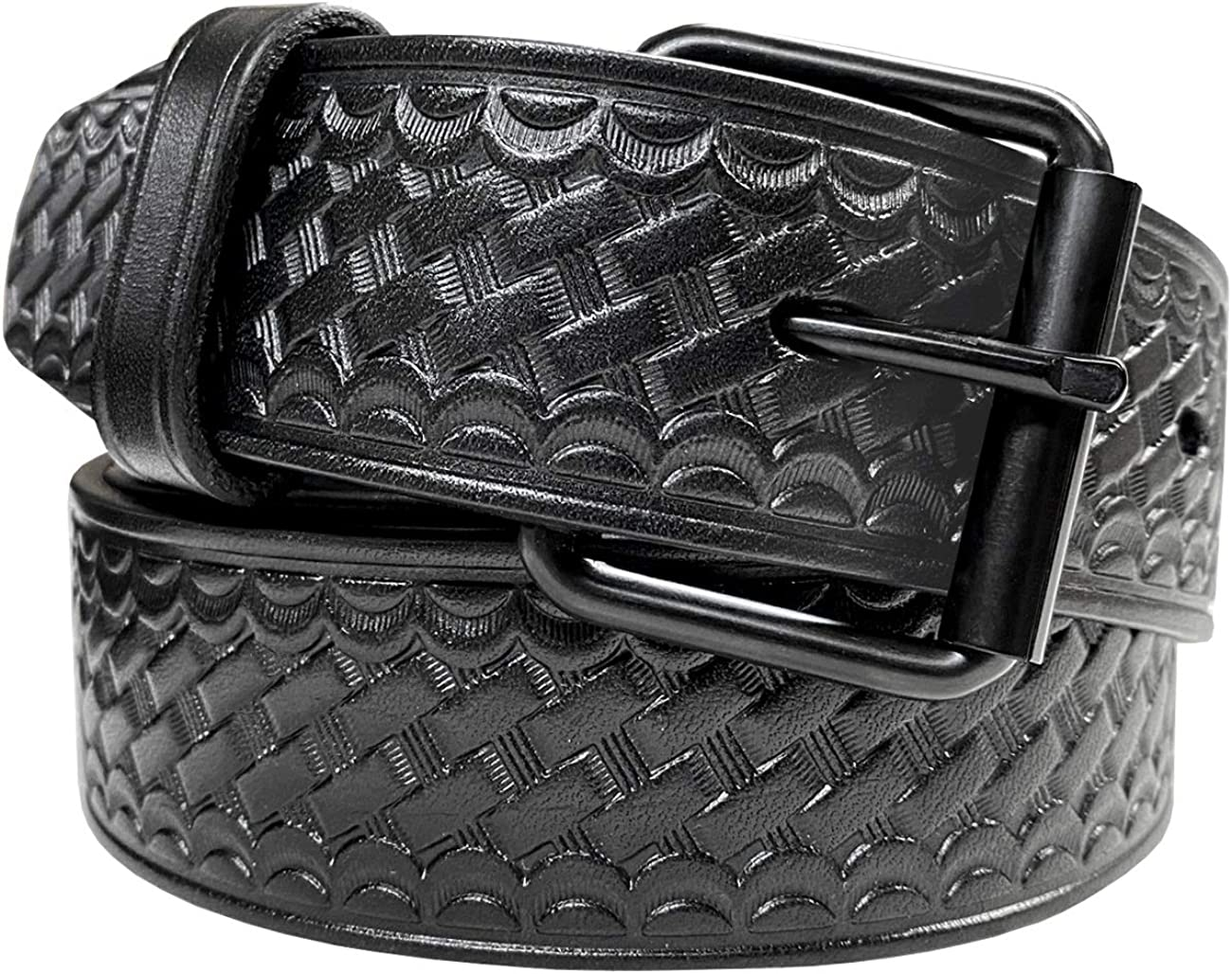 Men's Utility Uniform Work Belt Black Buckle Casual P Roller Year-end annual account One Houston Mall