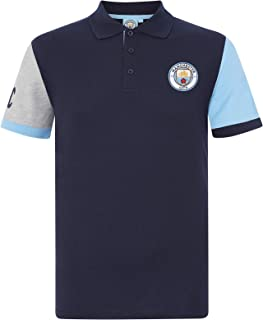 Manchester City FC Football Soccer Official Gift Mens Crest Polo Shirt