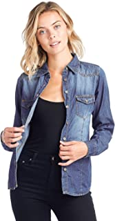 ICONICC Women's Denim Long Sleeve Shirt Chambray