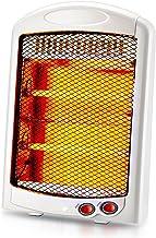 Estufa halógena,Mini Calefactor Cerámico ,termoventilador, 2 Niveles de Potencia, emisión instantánea de Calor, Sistema antivuelco, asa de Transporte, 600 W, Color Blanco (Color : White(cable185cm))