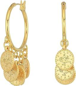 SHASHI - Coin Hoop Earrings