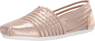 Skechers Bobs Plush - Leather and mesh slip on womens Ballet Flat