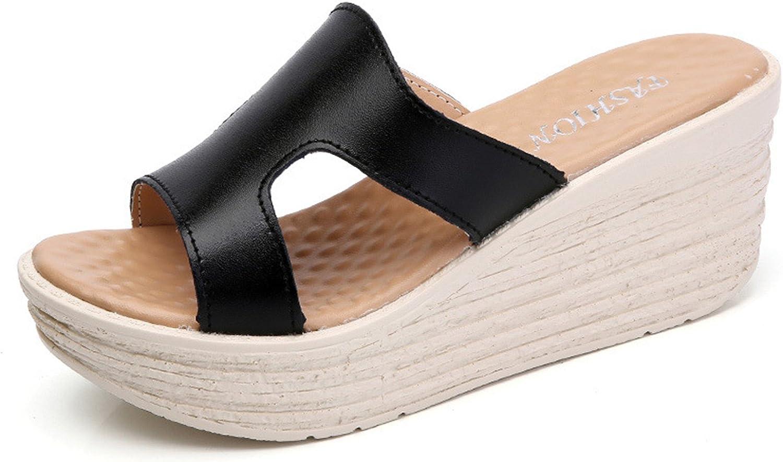 Webb Perkin Women's Casual Platform Sandals Open Toe Slip On Wedge Heel Sandals