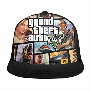 AWIHE GTA 5 Girl Mens Snapback Hats for Men Adjustable Mason Fitted Hats Baseball Cap Black