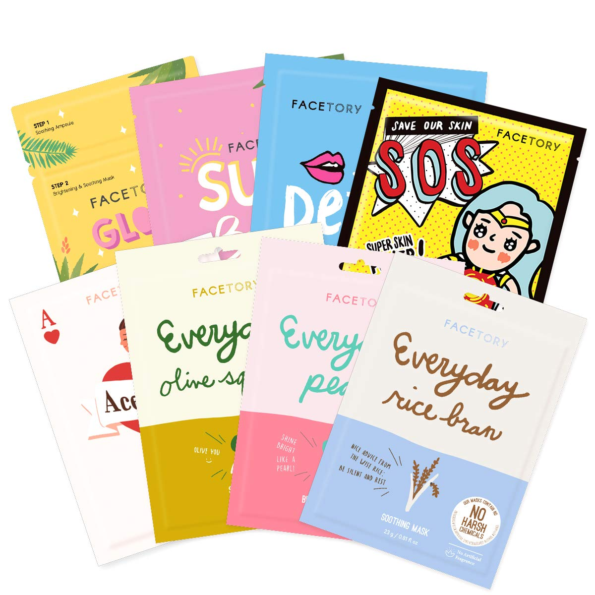 FaceTory Combination Skin Type Sheet Mask Collection Balancing - New sales OFFicial store