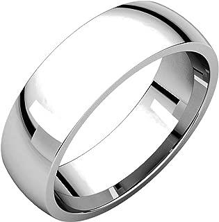 Men's and Women's Platinum, 6mm Wide, Comfort Fit, Plain Wedding Band