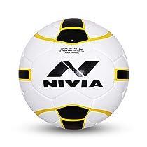 Nivia FB-245 Leather Football, Size 5 (Multicolour)
