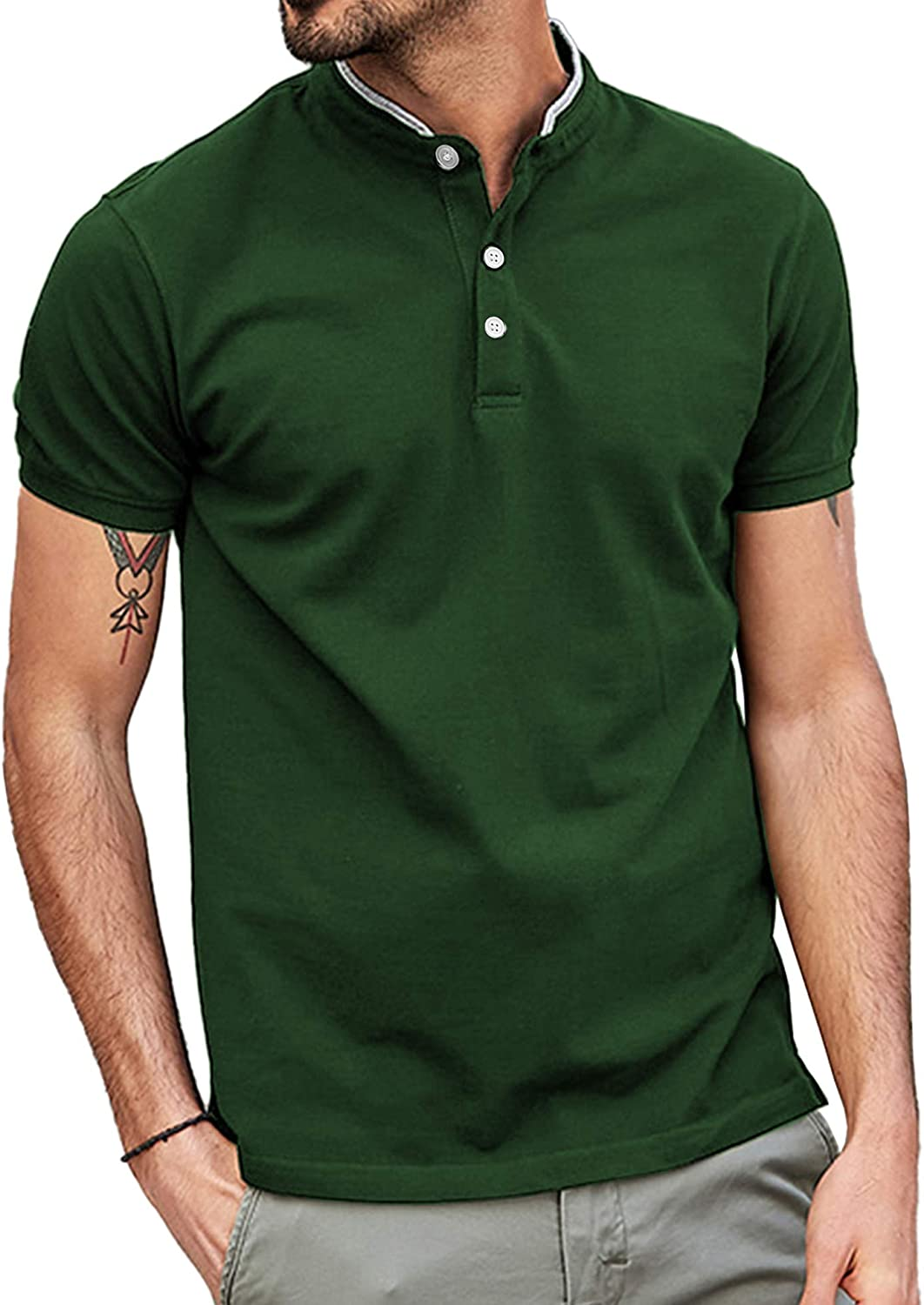 LecGee Men's Polo Shirts Short T-Shirts Sleeves Limited cheap time sale Regular Athletic