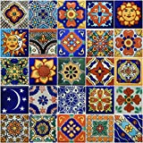 Color y Tradicion 25 Hand Painted Decorative Talavera Mexican Tiles 2'x2'